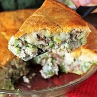 Ground Beef Broccoli Pie with Crescent Roll Crust