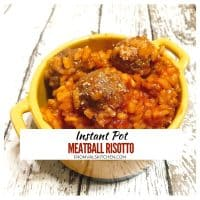 Instant Pot Meatball Risotto Recipe (With Easy Gluten-free Option)