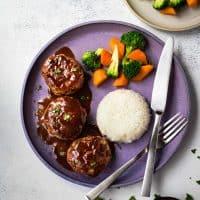 Japanese Hamburg Steak (Hambagu)