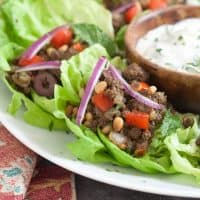 Middle Eastern Lettuce Wraps {Whole30}
