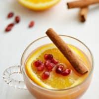 Slow Cooker Orange Pomegranate Cider