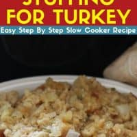Slow Cooker Stuffing For Turkey