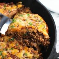 Five-Ingredient BBQ Beef Tortilla Pie