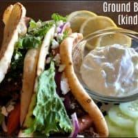 Ground Beef Gyros (kind of..!)