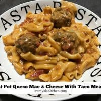 Instant Pot Queso Mac & Cheese With Taco Meatballs Recipe