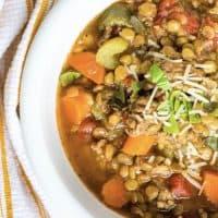 Instant Pot Italian Sausage and Lentil Soup