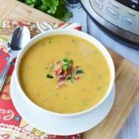 Instant Pot Sweet Potato and Jalapeno Soup