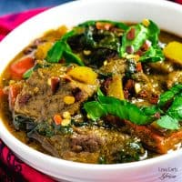 Lamb curry with coconut milk