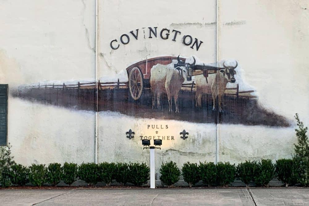 Ox Lot street art in Covington, Louisiana