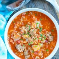 Pressure Cooker Cabbage Soup
