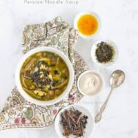 Instant Pot Ash Reshteh - Persian Noodle Soup with Beans and Herbs
