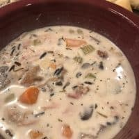 Instant Pot Cream of Chicken and Wild Rice Soup