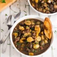 Instant Pot Lamb Stew Provençal