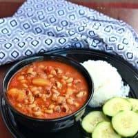 Black-Eyed Peas and Potato Stew   Lobia and Aloo Subzi