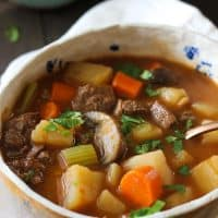 Beef and Vegetable soup in Instant Pot