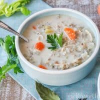 Easy Slow Cooker Chicken and Rice Soup
