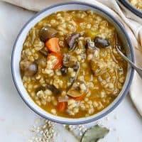 Slow Cooker Mushroom Barley Stew