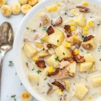 Lightened Up New England Clam Chowder