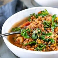 Lentil Stew with Harissa (vegan, slow cooker or stovetop)