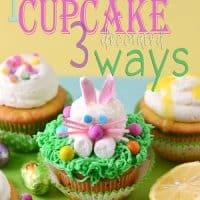 Bunny Lemon filled Cupcakes with Lemon Buttercream