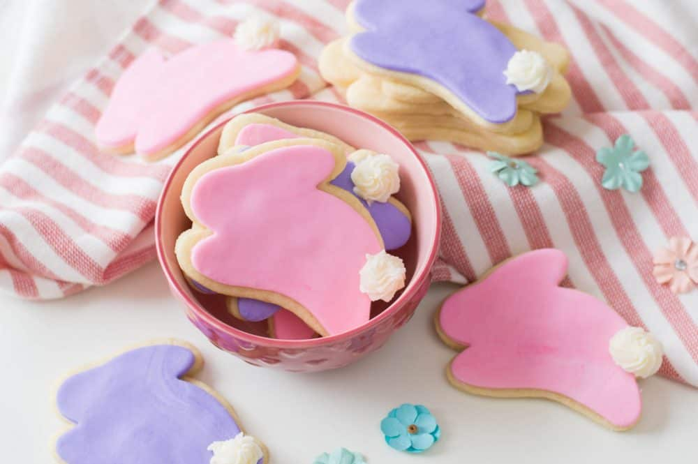 Bunny-shaped Easter Sugar Cookies