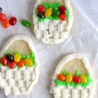 Sugar Cookie Easter Basket Cookies