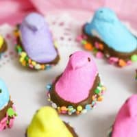 Chocolate Dipped Peeps for Spring