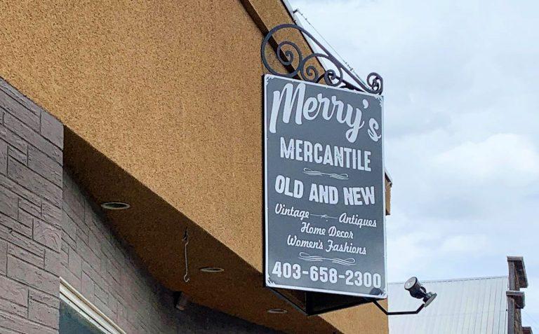 merrys mercantile sign