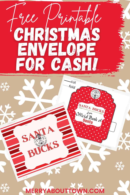 Downloadable Christmas Cash Envelope