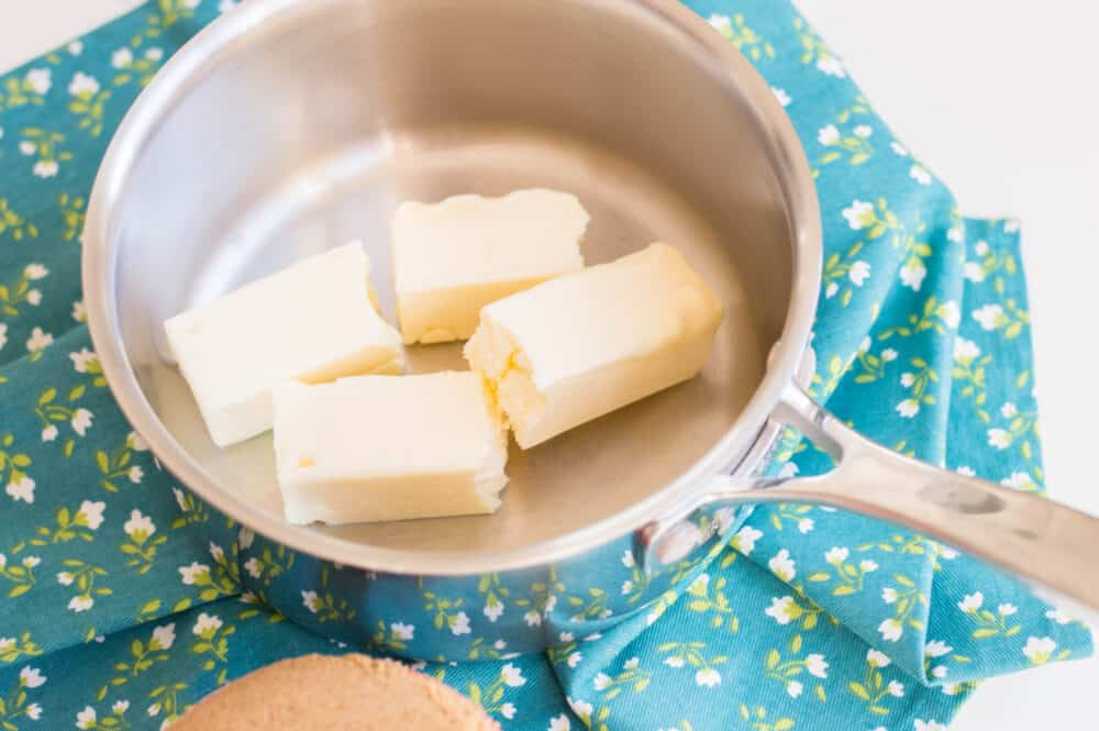 melting butter for brown sugar and butter mixture