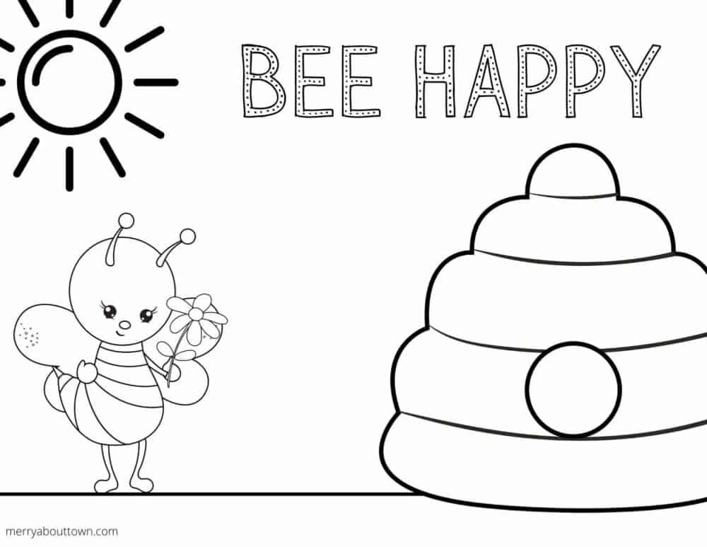 Free Printable Spring Coloring Sheets - Merry About Town