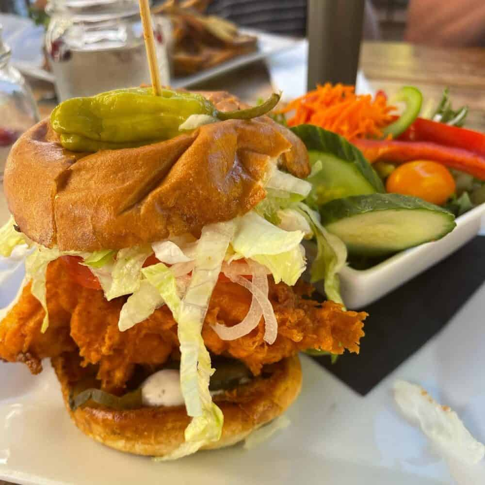 Nashville Hot Chicken Sandwich from Cilantro and Chive