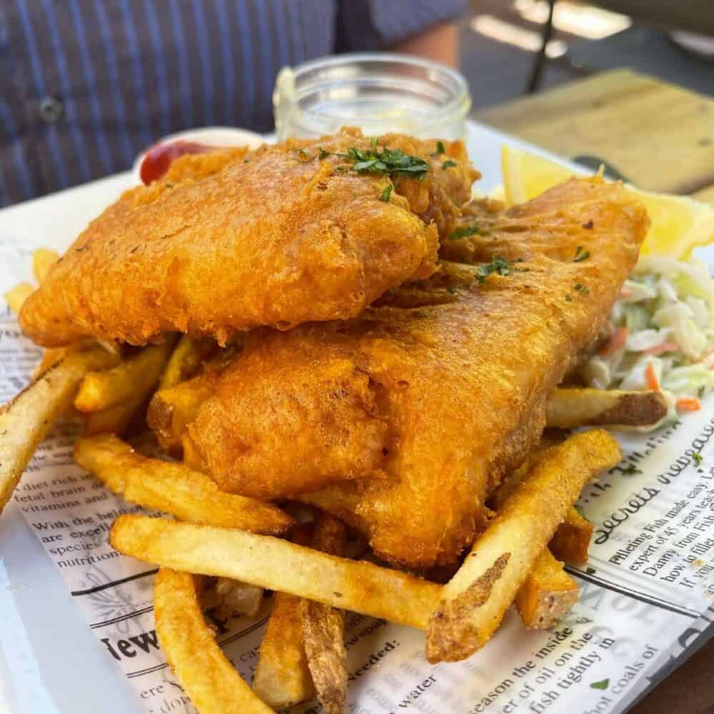 Fish and Chips from Cilantro and Chive