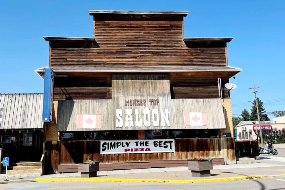 Monkey Top Saloon in Bentley, AB