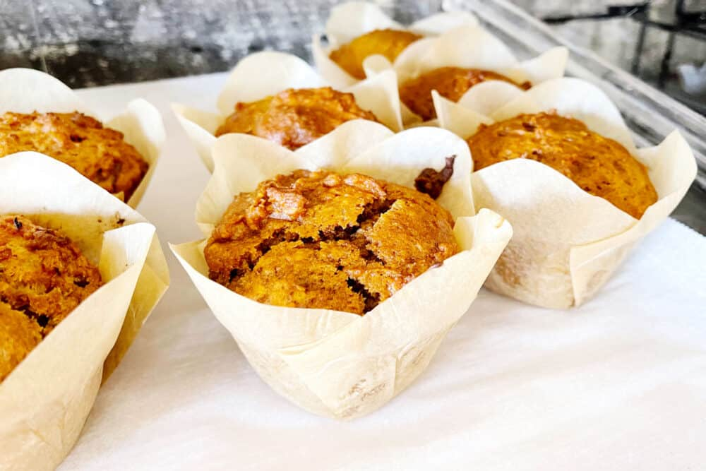 Muffins from The Drop Coffee & Tea in Bentley, AB